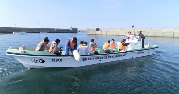 完全電動漁船の航行試験