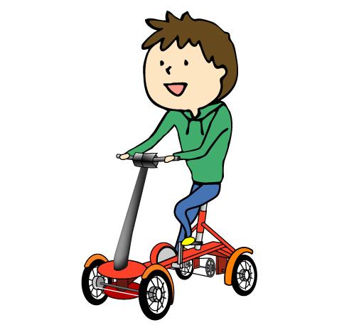 電動四輪自転車イメージ
