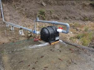 ペルトン式水力発電機(拡大)