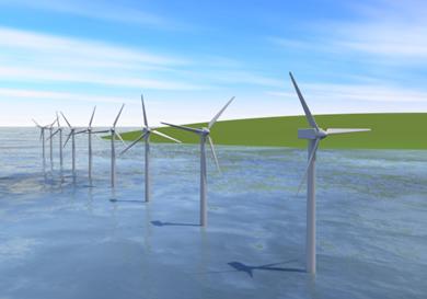 洋上風力発電イメージ